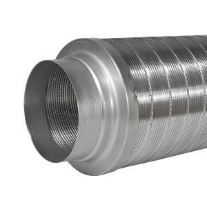 Starrer Schalldämpfer Telefonieschalldämpfer 150 mm 50 cm für Dunstabzugshauben