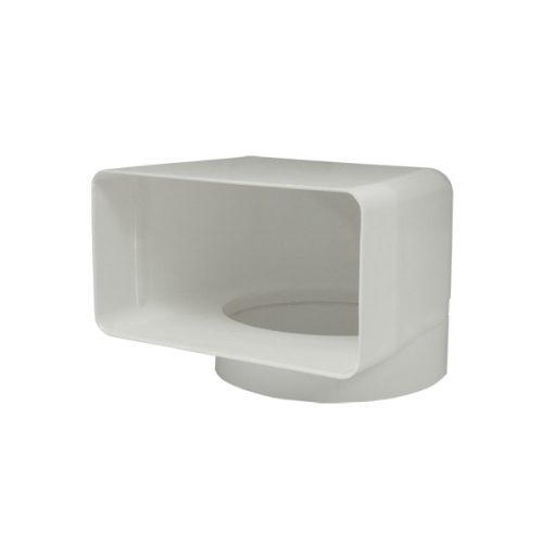 Flachkanal 180 x 95 mm Umlenkbogen für Dunstabzugshauben Abluft