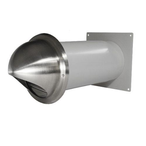 Edelstahlmauerkasten rund Mauerrohr für Dunstabzugshaube 150 mm