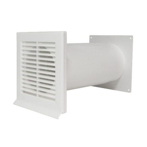 Kunststoff Mauerkasten weiß 150 mm für Dunstabzugshauben