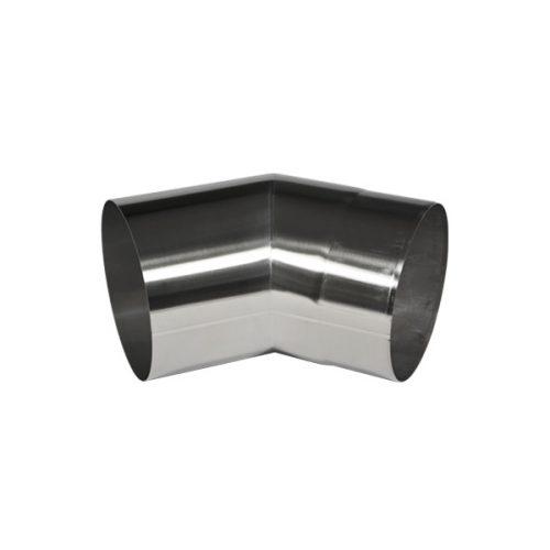 Edelstahlrohr Bogen 45° für Dunstabzugshauben