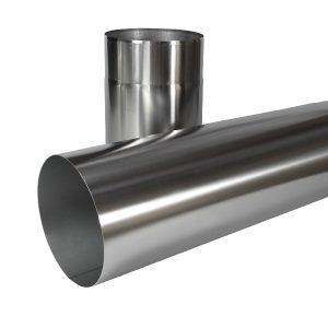 Edelstahlrundrohr gebürstet 150 mm für Dunstabzugshauben
