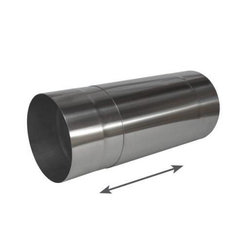 Edelstahl Teleskoprohr 150 mm für Dunstabzugshauben