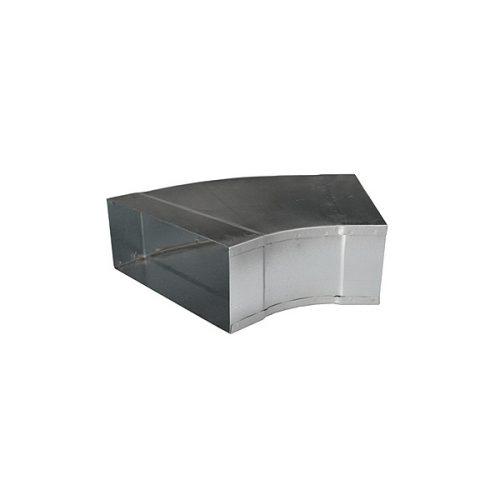 Metallkanal Rohrbogen Bogen 45° 45 Grad waagerecht