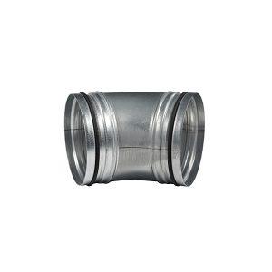 45° Verzinkter Rohrbogen Rundrohr aus Metall 150 mm