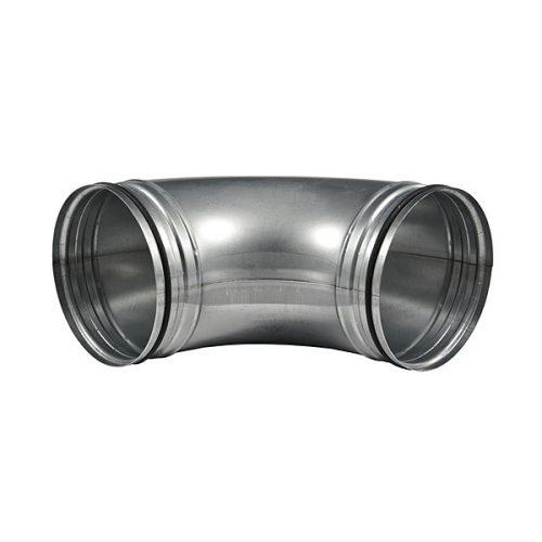 Verzinkter Rohrbogen Rundrohr aus Metall 150 mm