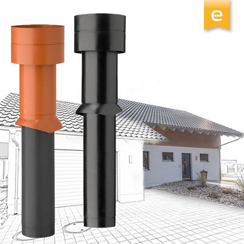 Dachdurchführungen und Dachhauben speziell für Dunstabzugshauben mit 150mm Anschluss